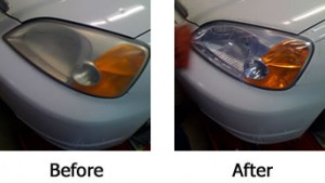 Headlight - Before and After Polishing