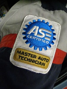 Certified  by the National Institute for Automotive Service Excellence